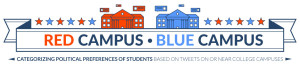 Red Campus, Blue Campus: Categorizing Political Preferences of Students Based on Tweets on or Near College Campuses